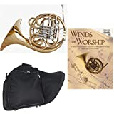 Band Directors Choice Double French Horn Key of F/Bb - Winds of Worship Pack; Includes Intermediate French Horn, Case, Accessories & Winds of Worship Book