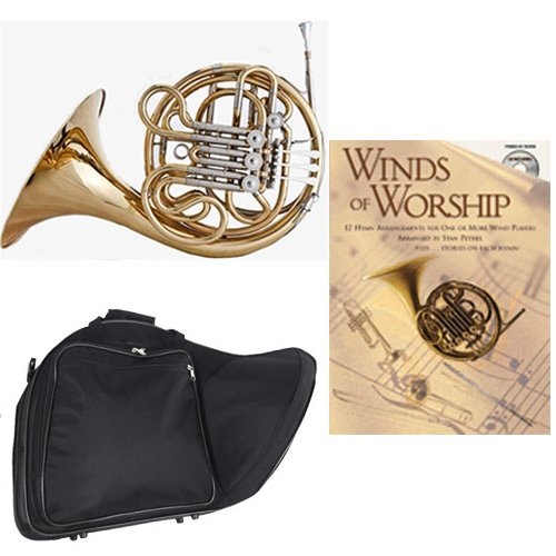 Band Directors Choice Double French Horn Key of F/Bb - Winds of Worship Pack; Includes Intermediate French Horn, Case, Accessories & Winds of Worship Book by Double French Horn Packs
