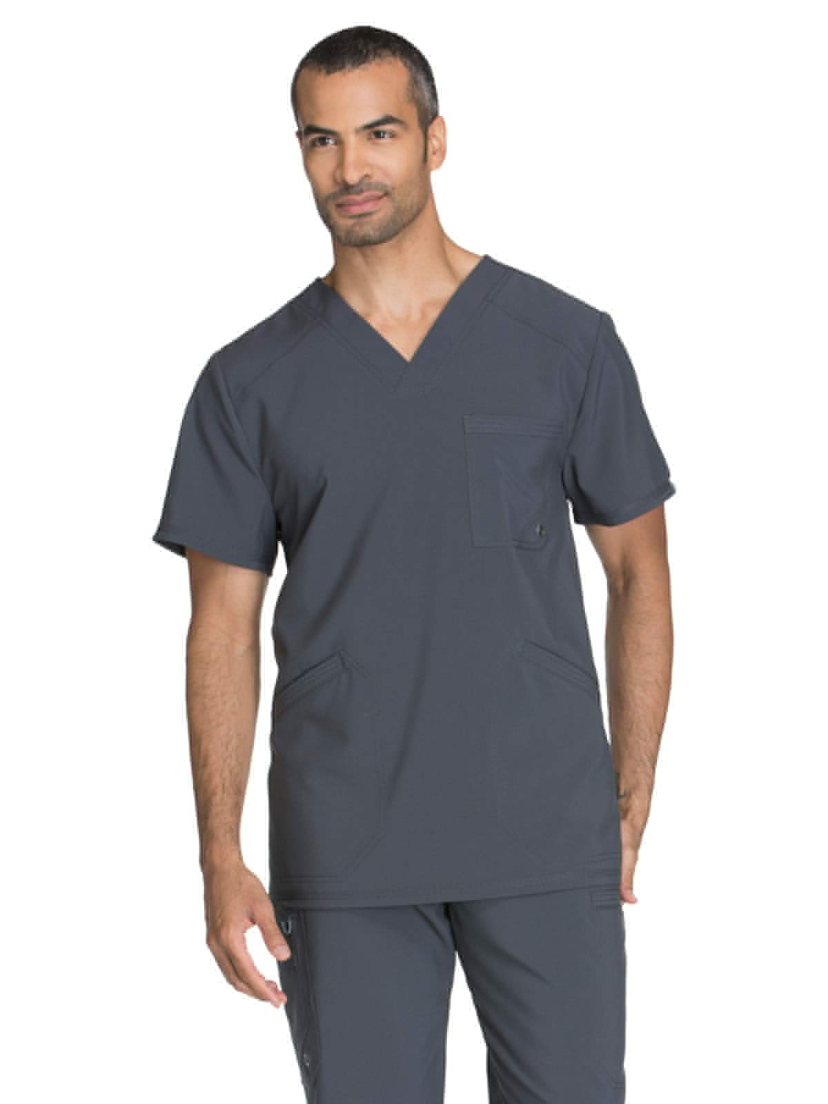 Cherokee Infinity CK900A Men's V-Neck Top Pewter 5XL by Cherokee