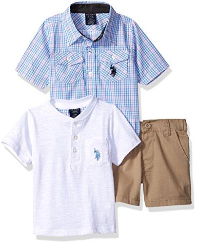 U.S. Polo Assn. Baby Boys Sleeve, T-Shirt and Short Set