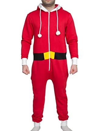 3b59bf32df Amazon.com  Outofgas New Unisex Santa Elf Xmas Onesie Mens Womens  All-in-One Novelty Christmas Suit  Clothing