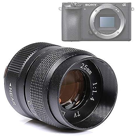 Sony NEX - Objetivo óptico Vintage 25 mm F1.4 Fujian CCTV Lens ...