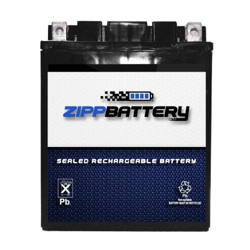 (Chrome Battery 14AH-BS High Performance Power Sports Battery (YTX14AH-BS))