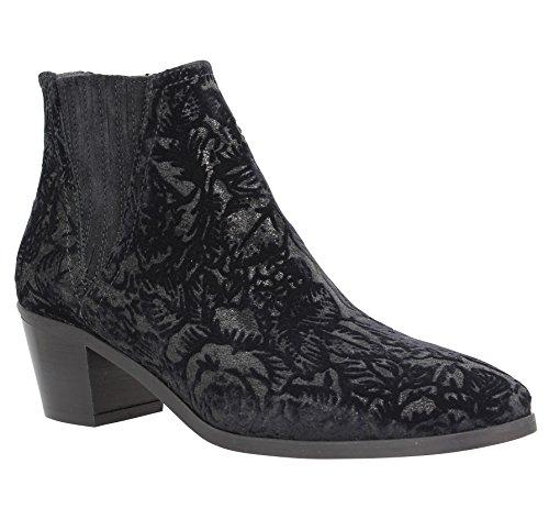 Shoes Kanna Sara donna in da velluto neri Stivaletti 8wawCxqS