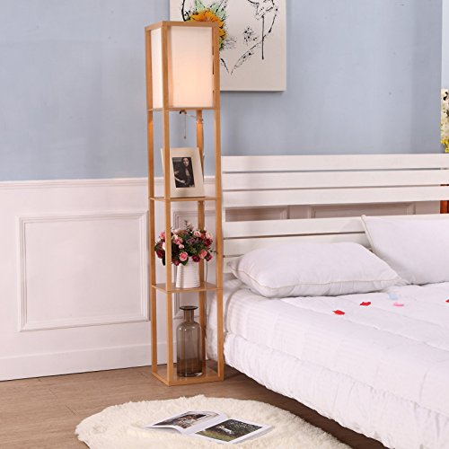 Brightech maxwell shelf floor lamp modern mood for B q living room shelves