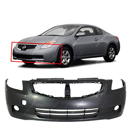 MBI AUTO Primered, Front Bumper Cover Replacement for 2008 2009 Nissan Altima Coupe (2-Door) 08 09, NI1000250