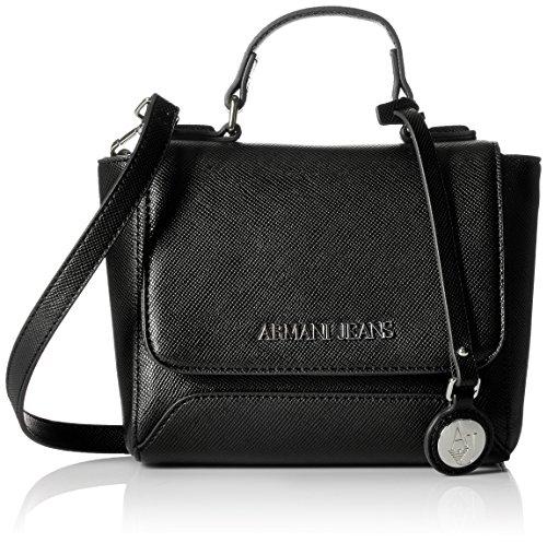 Armani Black Leather Bag - 7