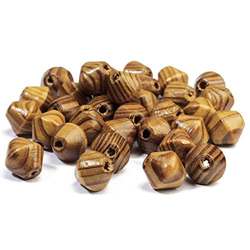50 Large Wooden Bead Lock Washer 16 mm Cone Geometry Natural Unfinished To Findings Made Jewelry DIY Spacer Making