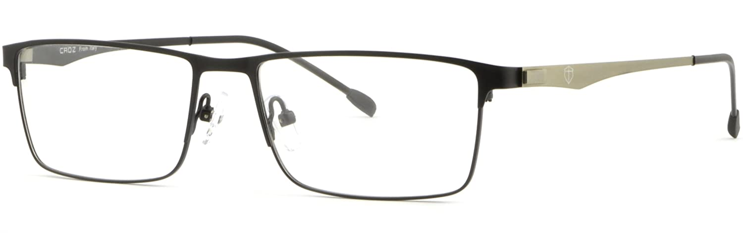 1f27c17f5bb Amazon.com  Black Full Rim Thin Light Men Women Titanium Frame Rectangular  Rectangle Glasses  Clothing