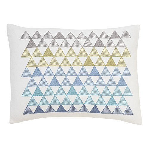 DwellStudio Cross Stitch Pillow (Triangles) - Embroidered Crib Pillow