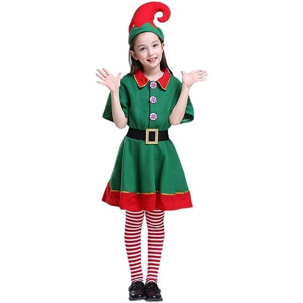 Amazon.com: Disfraz de elfo de Papá Noel, para niño, grande ...