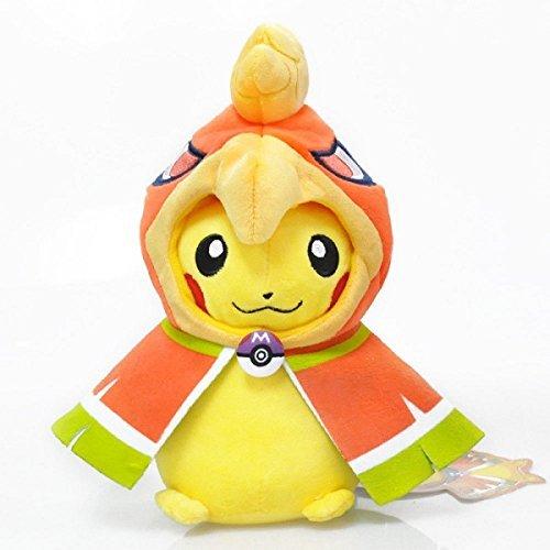 Pokemon Pikachu Ho-Oh Soft Plush Figure Toy Anime Stuffed Animal 8.5 Inch Child Gift Doll
