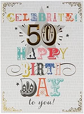 Amazon.com: Hallmark – Tarjeta de felicitación de 50 ...