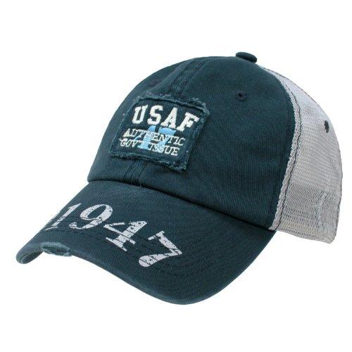 Rapid Dominance Air Force Vintage Mesh Trucker Cap(Blue, One Size)