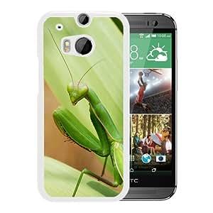 Unique DIY Designed Cover Case For HTC ONE M8 With European Mantis Animal Mobile Wallpaper (2) Phone Case