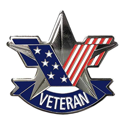 - US Veteran Special Edition Stars and Stripes Hat/Lapel Pin