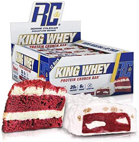 RCSS King Whey Protein Bar Eiweißriegel Proteinriegel Eiweiß Protein 20g Protein pro Riegel 12x57g (Red Velvet...
