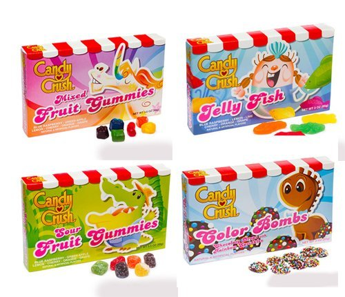 Candy Crush Saga - Assortiment de 4 packs de bonbons
