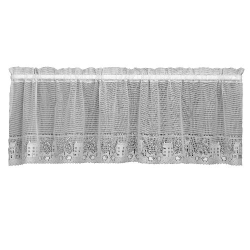 Heritage Lace Country Willow 60-Inch Wide by 30-Inch Drop Tier, Cafe