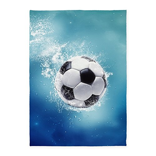 CafePress - Soccer Water Splash - Decorative Area Rug, 5'x7' Throw Rug by CafePress