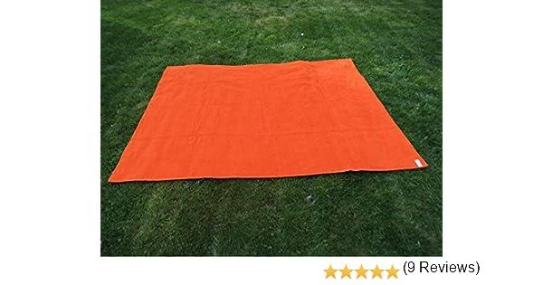 Toalla manta NARANJA 150x200cm , 100%algodón, 460gr/m2, fabricada en Portugal.: Amazon.es: Hogar