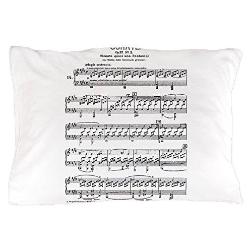Sheets Sonata Moonlight Music (CafePress Moonlight-Sonata-Ludwig-Beethoven Standard Size Pillow Case, 20