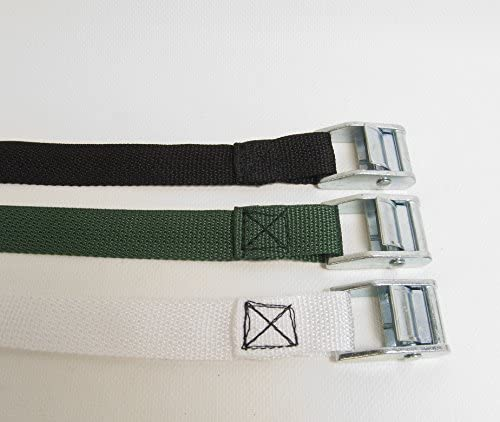 """Polypro Webbing Shipped from The USA! Metal 1/"""" Inch with 9/' Ft Cam Buckle"""