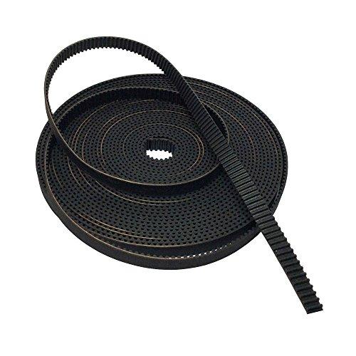(BEMONOC GT2/2GT Timing Belt Width 9mm Rubber Drive Belt for 3D Printer Pack of 10Meters)