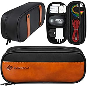 Electrolly Cable Organiser Bag, Small Travel Electronics Accessories Carry Case, Portable Storage Cable Case for Gadgets…