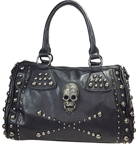 Zzfab Studded Skull Purse Satchel ()