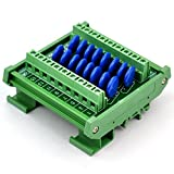 Chunzehui DIN Rail Mount 60V SIOV Metal Oxide Varistor Interface Module, 16 Channels Common.