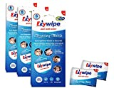 Ezywipe Compressed Cleansing 3 Packs of 6 = 18 Towels 100% Rayon, Certified Bio-degradable, Hypo-allergenic, Anti-Microbial, Anti-Bacterial for Travel, Home, Family, Personal, Pet, Baby Care