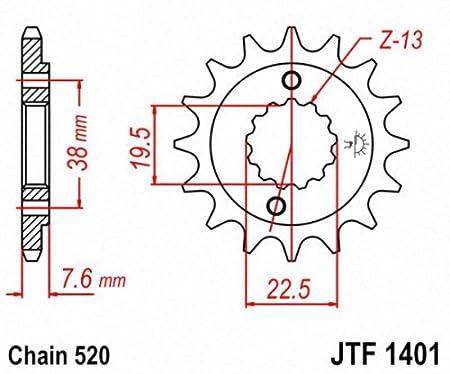 JT Sprockets JTF1401.13 13T Steel Front Sprocket