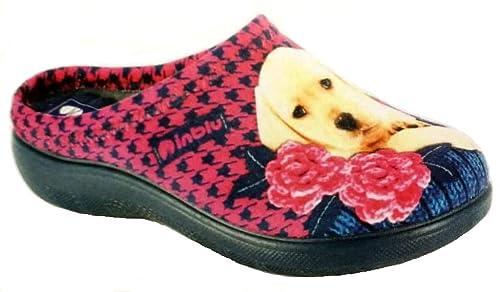 INBLU Pantofole Ciabatte Invernali da Donna Art. EC-22 Blu  Amazon ... 493f3c8d6e5