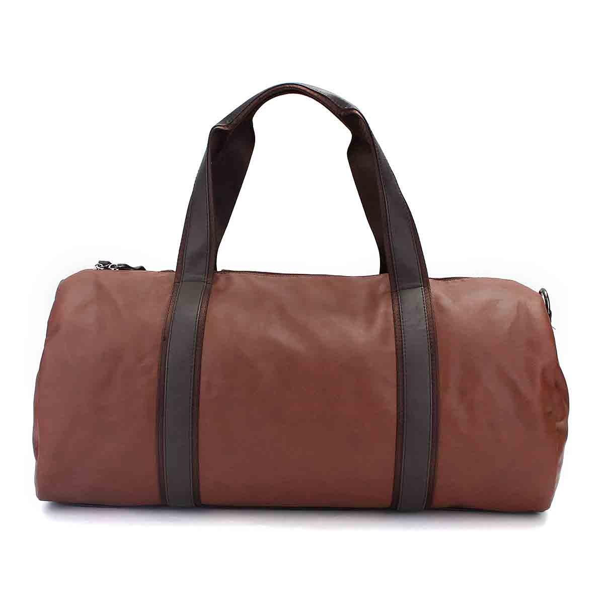 OURBAG Mens Gym Bag Large Leather Travel Tote Luggage Weekender Duffle Bag Brown