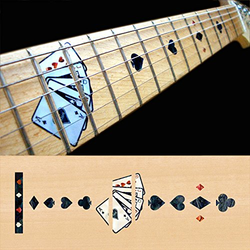 (Fretboard Markers Inlay Sticker Decals for Guitar - Playing Card - BP)