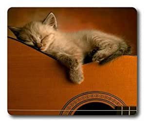 Lilyshouse A Cat Sleeping on the Guitar Rectangle Mouse Pad