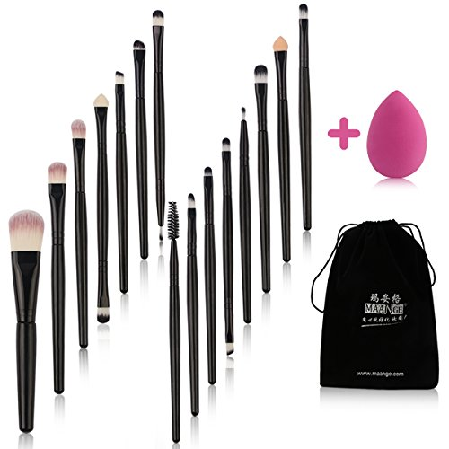 MAANGE Makeup Brush Set 15 Pcs Eye Shadow Brush...
