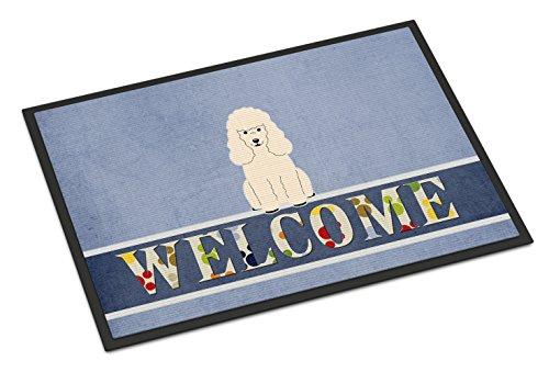 Poodle Door Mat (Caroline's Treasures BB5651MAT Poodle White Welcome Doormat, 18 x 27, Multicolor)