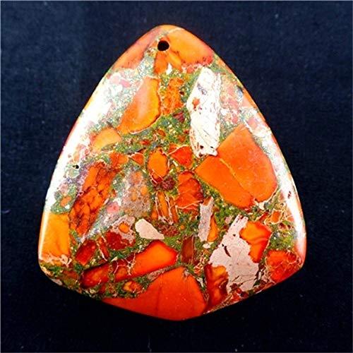 FidgetFidget Charming Mixed Shape Orange Sea Sediment Jasper& Pyrite Pendant Bead B-DHS17 1 Freeform