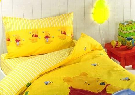 Winnie The Pooh Lenzuola.Winnie The Pooh Disney Miele Completo Lenzuola Letto Singolo Caleffi