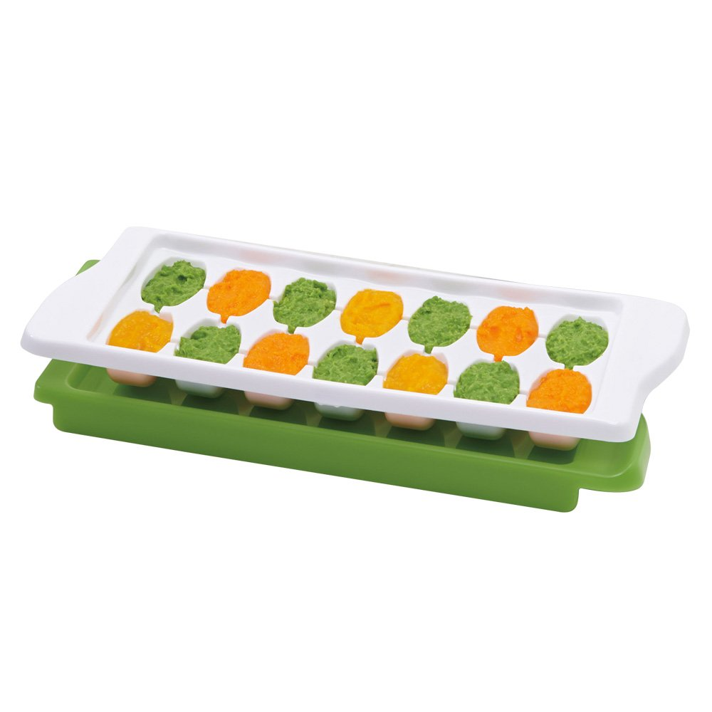 OXO TOT 2-Piece Baby Food Freezer Tray with Protective Cover, Teal 61130200