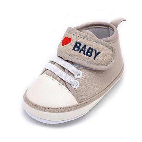 Recién Yanhoo Carta Zapatos Caqui Amor Deportivos Bebé Antideslizantes Casuales Nacidos Infantiles De Niño Suaves tt4w61
