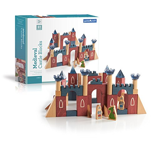 Guidecraft Medieval Castle Blocks Building Kit (Piece 61)