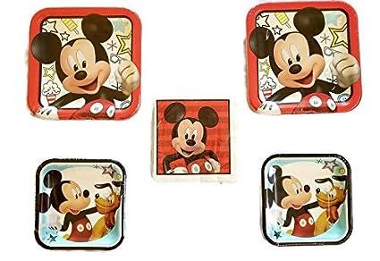 Amazon.com: Mickey Mouse, sobre la marcha, fiesta paquete ...