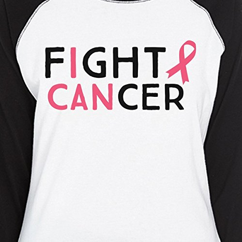 Courtes T Unique Cancer Femme Manches Printing Taille Fight I Can shirt 365 ZaO5IcqO