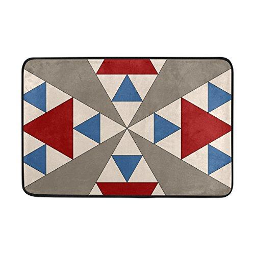 - LORVIES Panama Pyramids Block Doormat, Entry Way Indoor Outdoor Door Rug with Non Slip Backing, (23.6 by 15.7-Inch)