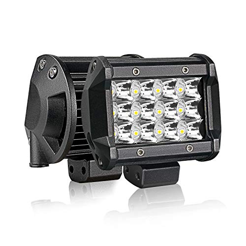 T-Former LED Pods 2PCS 4Inch 36W Triple Row Spot LED Lights Mounting Bracket for Trucks Jeep UTV ATV Marine Boat
