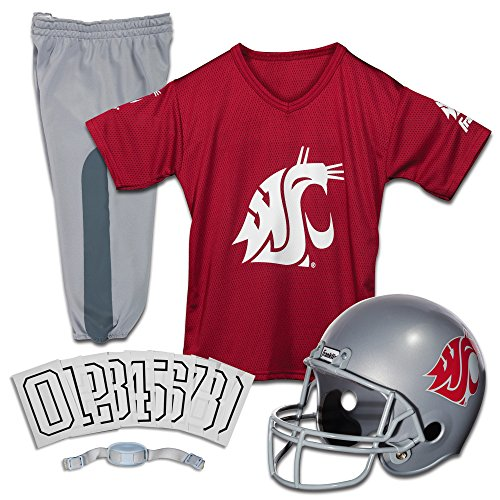 Franklin Sports NCAA Washington State Cougars Deluxe Youth Team Uniform Set, Medium
