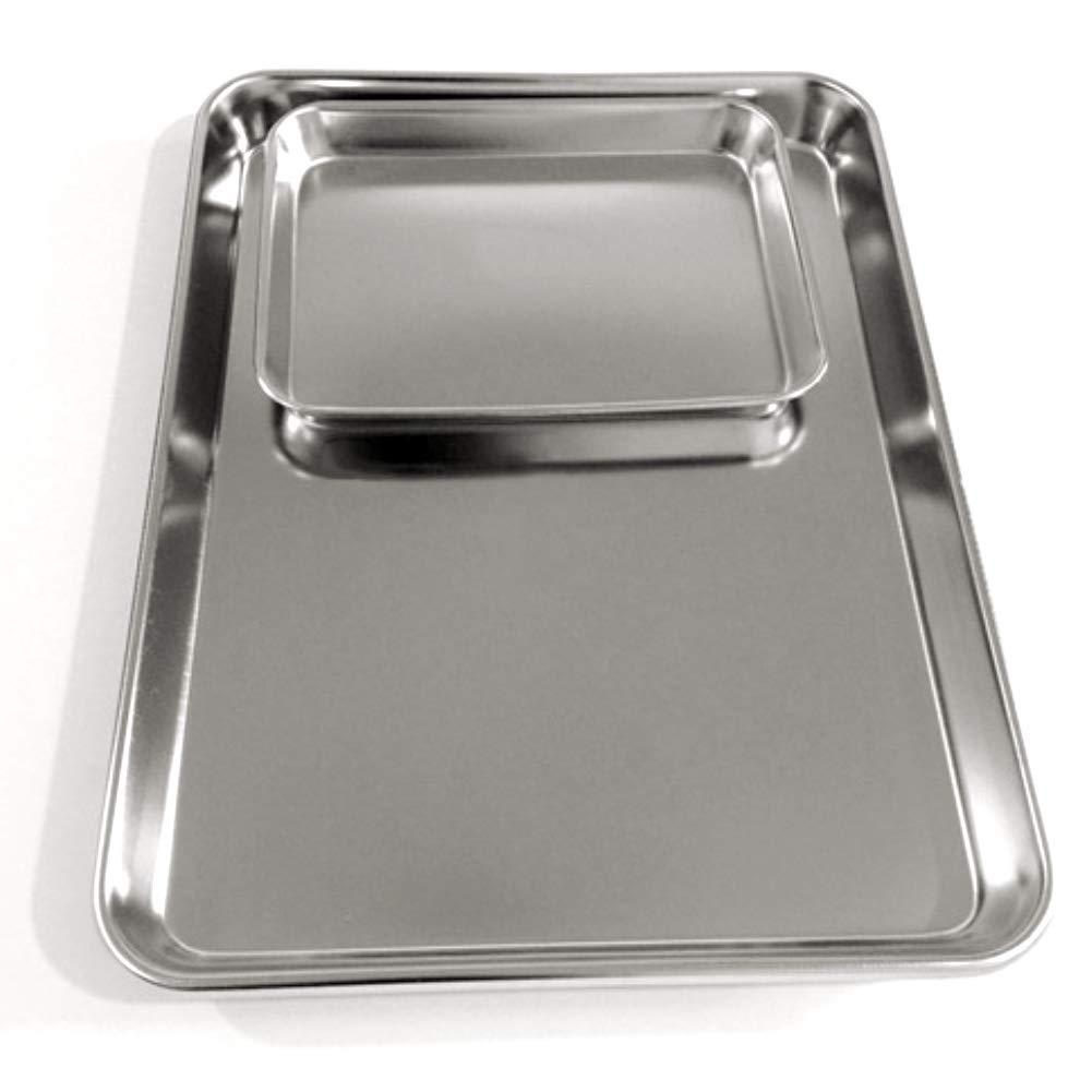 CFPacrobaticS Rechteck Backformen Ofenform Kuchen Cookies Pizza Edelstahl Backblech Platte 1#